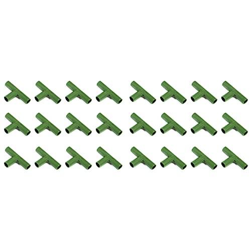 ZCFGUOI Conector de marco de jardinería de 24 piezas, conectores de construcción de marco de invernadero de PVC de 11 mm para huertos de llenado de piezas de tubo de plástico