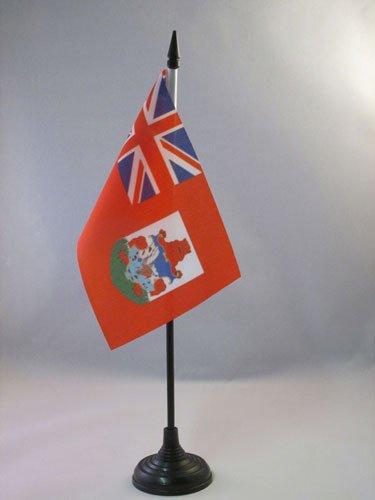 AZ FLAG Bandera de Mesa de Bermudas 15x10cm - BANDERINA de DESPACHO BERMUDEÑA 10 x 15 cm