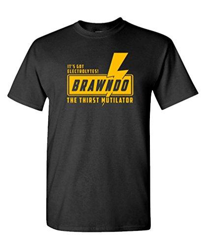 Guacamole Brawndo - Thirst mutilator Electrolytes - Mens Cotton T-Shirt, XL, Black
