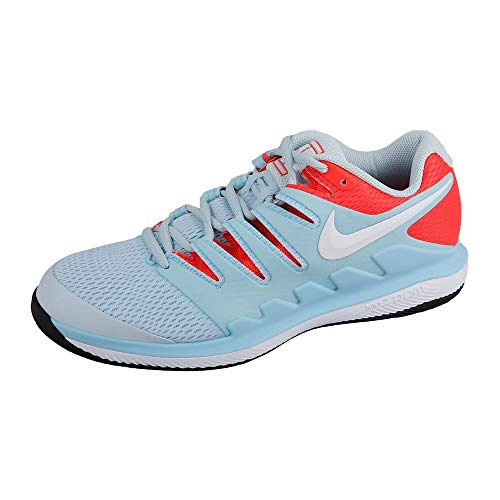 Nike Damen WMNS Air Zoom Vapor X Hc Tennisschuhe, Mehrfarbig (Still Blue/White/Bright Crimson/Black 402), 36 EU