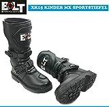 Motorrad Kinderstiefel Motocross Sportstiefel Bolt XK15 Motorradstiefel Quad Cross Off Road Crash MX Kids Racing Boots (Schwarz,EU 36/3)