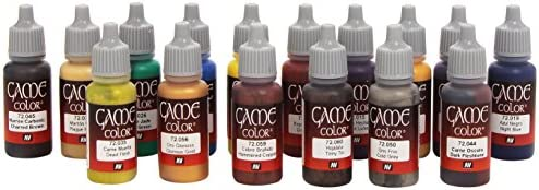 Vallejo Game Color Advanced Acrylic Paint Set Assorted Colours Pack of 16 product image