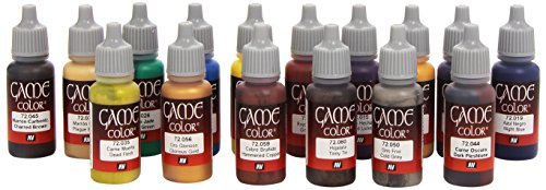 Vallejo Game Color avancé de peinture acrylique – couleurs assorties (Lot de 16)