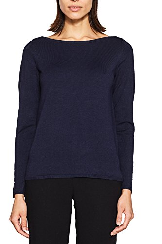 ESPRIT Collection Damen 997EO1I810 Pullover, Blau (Navy 400), X-Small (Herstellergröße: XS)