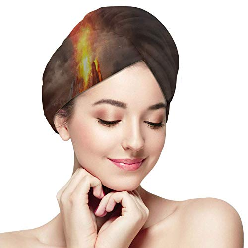 QHMY Magic Volcano Erupting Dry Hair Hat Serviette de séchage des cheveux Absorbant doux Séchage rapide des cheveux Turban Hair Drying Hat Quick Magic Hair Dry Hat