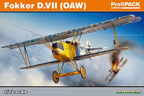Eduard EDK70131 Kit 1:72 Profipack-Fokker D.VII (OAW) Panelmodell, div.