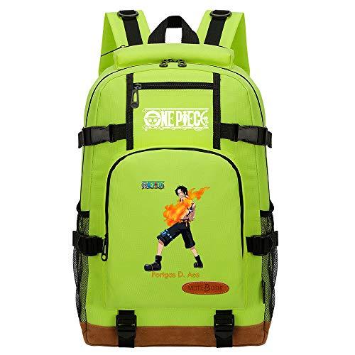 CXWLK Mochila Urban para Hombre Senderismo Trabajo con Bolsillo Backpack Mochila Hombres Mujer Bolso Mochila De Gran Capacidad,One Piece,Green,46cmX29cmX13cm