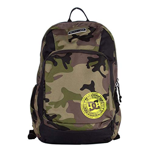 DC Shoes Men's The Locker Backpack Bag Camo Green (rrp6)