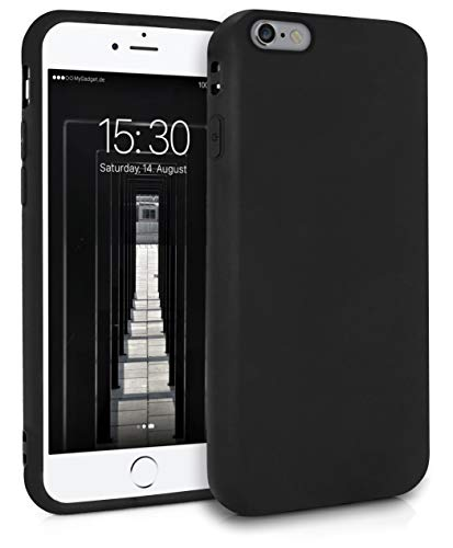 MyGadget Friendly Pocket Custodia TPU per Apple iPhone 6 / 6s - Case Ultra Morbida con Bordi Rinforzati – Cover Silicone Antiurto e AntiGraffio - Nero