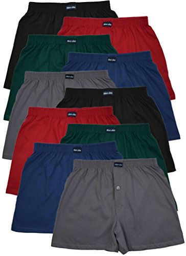 MioRalini 10 Boxershort Baumwolle Artikel: 5 Farben mit Eingriff, Groesse: L-6
