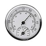 LANDUM Wandmontierte Temperatur Luftfeuchtigkeitsmesser Thermometer & Hygrometer Meteorologische Instrumente Temperatur Luftfeuchtigkeit Tester Für Sauna Raum Haushalt -