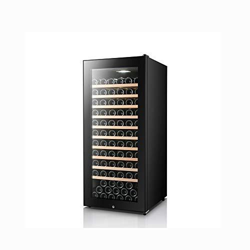 120 flessen wijnkoeler, echte wijnkelder, vrijstaande wijnkoelkast, sigaarkast, 360 ° constante vochtinbrengende - Mute wijnkoeler