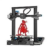 Creality Ender-3 V2 3D Drucker, FDM 3D Printer mit Silent Motherboard, Meanwell Netzteil, Neue Bedienung UI-System Carborundum Glas-Plattform und Resume-Druck, 220x220x250mm