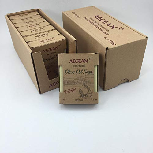 Olive Oil Soap Bar - Handmade 100% Pure Natural & Vegan (8 Bars)