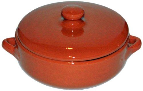Amazing Cookware - Tegame da Forno in Terracotta con Coperchio, ø 15cm