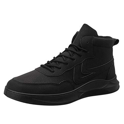 Poamen Herren Laufschuhe Größe rutschfest Wasserdicht Outdoor Stiefel Outdoor Bergsteigen Werkzeug Schuhe Sportschuhe, Schwarz - Schwarz - Größe: 42 1/3 EU