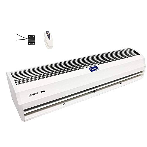 """Awoco 36"""" FM-1209T 1100 CFM Slim Indoor Air Curtain w/Remote Control and Magnetic Switch, Powerful, Quiet, Small Body, Light Weight, CE Certified"""
