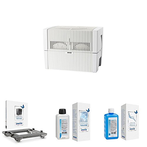 Venta Luftwäscher LW45, weiß/grau + Rollwagen + Reiniger + Hygienemittel
