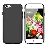 YINLAI iPhone 6S Plus Case Slim iPhone 6 Plus Case Silicone Drop Protection Non Slip Grip Soft Rubber Protective Cover Hard Back Durable Girly Phone Cases for iPhone 6S Plus/6 Plus(5.5 inch),Black