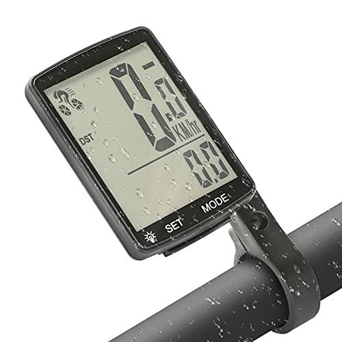 Wikay Cuentakilómetros para Bicicleta Computadora de Bicicleta Impermeable Velocímetro Bici Variedad de Funciones Pantalla LCD con retroiluminación para Bicicleta Ciclocomputador Odómetro