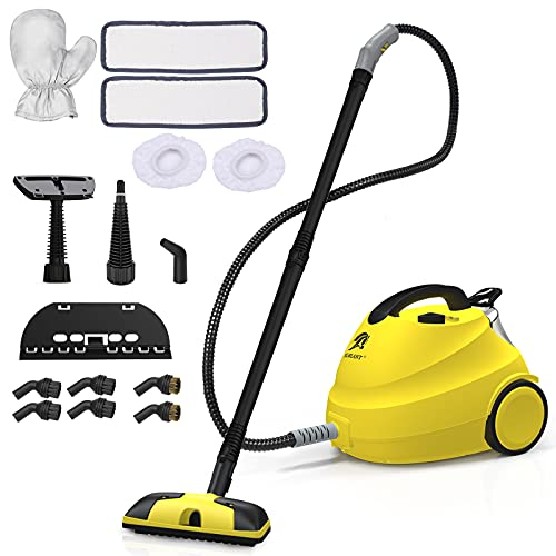 MLMLANT Limpiador Trapeador Vapor agua sofas mano,Vaporeta plancha baporetas limpieza hogar,15 Accesorios multifunción