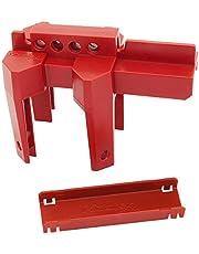 Master Lock Bloqueo ajustable de válvula de bola S3080, Rojo, talla única