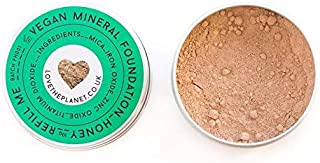Love the Planet Vegan Mineral Foundation Shade Honey in Refillable Tin