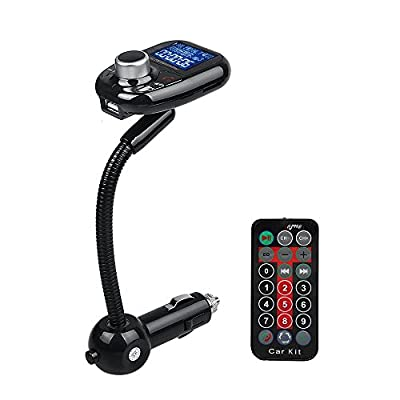 Bluetooth FM Transmitter, xhorizon TM SR LCD Display Bluetooth Wireless Car Kit USB Charger, Hands Free Calling, TF/SD Card Mp3 Player with Charging for Samsung, iPhone and more smartphone
