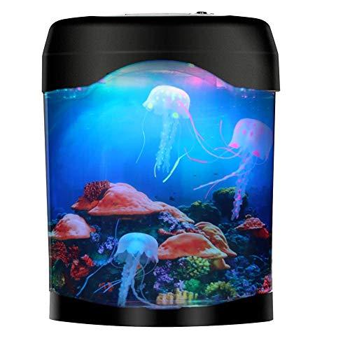 Licht Geschenk für Kinder Männer Frauen Geburtstag Weihnachten Urlaub - Elektrische Quallen Aquarium Lampe für Hauptdekoration