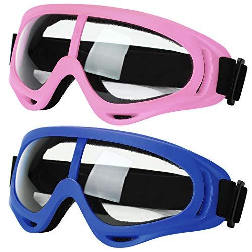 JUSTDOLIFE Goggles, JUSTDOLIFE veiligheidsbril Spatwaterbestendige anti-mistlens over bril zacht neusstuk bril geen lekkende anti-mist premium UV-bescherming 180 graden visie en zachte siliconen neusbrug