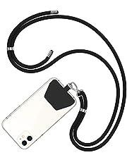 COCASES Cadena de Teléfono Celular Universal, Cordón Correa para el Cuello Compatible con iPhone/Samsung/Huawei (Negro)