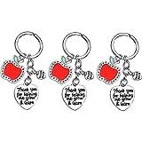 BESPMOSP Teacher Keychain Appreciation Gifts Teacher's Day Gifts Graduation Keychain Thank You Gifts Best Friend Keyring (3PC Thank you for helping)