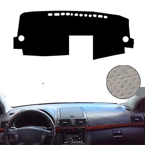 VNASKH Cubierta de salpicadero de coche para coche, alfombrilla para salpicadero, alfombrilla para salpicadero, alfombrilla para salpicadero, alfombrillas anti-UV, para Toyota Avensis 2005 2006 LHD