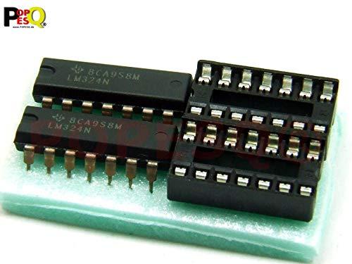 POPESQ® 2 Stk. x LM324N mit Sockel #A480