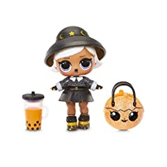 Unbox 7 surprises, including a limited edition Witchay Babay doll with L.O.L. Surprise! Spooky Sparkle. Limited edition Witchay Babay got a sparkly makeover with glitter details, new fashion, a trick-or-treat pumpkin accessory and more. Doll glows in...