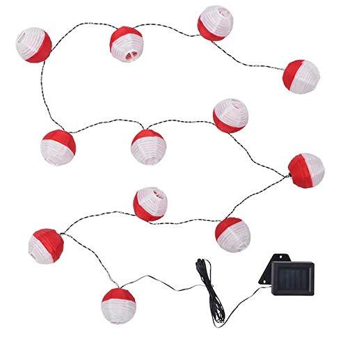 SOLVINDEN +Lichterkette Ikea 12er LED draußen, solarbetrieben rot/weiß