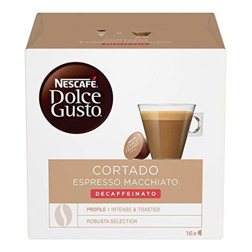 Nescafé Dolce Gusto Cortado Espresso Macchiato Decaffeinato, 3 Confezioni da 16 Capsule (48 Capsule)