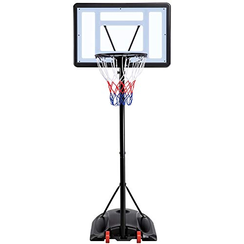 Yaheetech 7.2-9.2ft Basketball Hoop Backboard System Portable Removeable Basketball Hoop & Goals Outdoor/Indoor Adjustable Height Basketball Set for Youth
