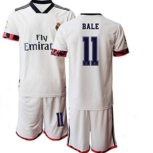 JEEG 20/21 Kinder Jugend Bale 11# Madrid Fußball Trikot und Shorts (Kinder Größe 4-13 Jahre) (26)