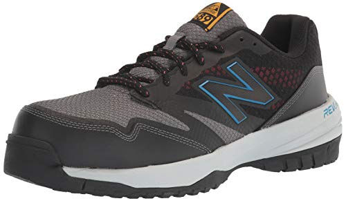 New Balance Men's Composite Toe 589 V1 Industrial Shoe, Black/Toro Red, 11 XW US