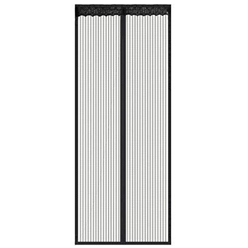 Magnettür, mit strapazierfähigem Vorhang und kompletter Rahmen-Klettverschluss, passend für Türgrößen bis zu 99 x 203 cm