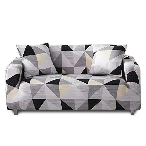 HALOVIE Copridivano Elasticizzato, Copertura Divano Sofa Protezione Universale Decorativa per Divani a 2 Posti (145-185cm) con 1 Fodera per Cuscino (45 * 45cm)