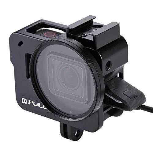 Camera bescherming kooi Huisvesting Shell CNC Aluminium beschermende kooi met 52mm UV Lens for GoPro HERO (2018) / 7 Black / 6/5 (zwart) Voor Actie Camera (Kleur : Zwart)