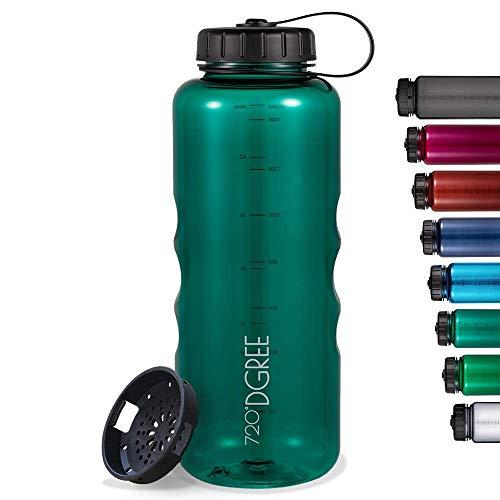 """720°DGREE Trinkflasche """"simplBottle"""" - 500ml, 1000ml, 1500ml - Deine Wasserflasche - Die Sportflasche für Gym, Fitness, Fahrrad, Kinder, Schule & Büro - BPA-Frei"""