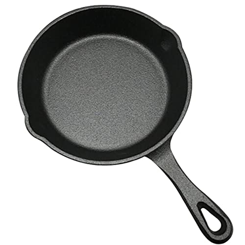 YTBLF Non Stick Frying Pan 25cm, Frying Pan, Cast Iron Frying Pan Non-stick Uncoated Saucepan Egg Pancake Cooking Pan Home Kitchen Outdoor BBQ Skillet