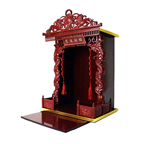 WANGLX 20' Lucky Fortune Buddha Altar Cabinet Miniature Table for Buddha Statue Stand Worship Pedestal, Suitable for Place Your Spiritual Decoration