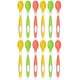 Amazon Brand - Solimo Soft Tip Baby Spoons (Pack of 12)