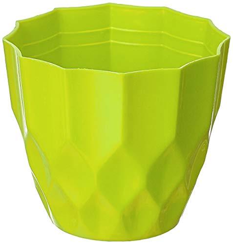 "Gardens Need 100% Virgin Plastic Rich Pot-4"" | Set of 5 Planter, (10.5cm x 10.5cm x 9cm, Lemon Green)"