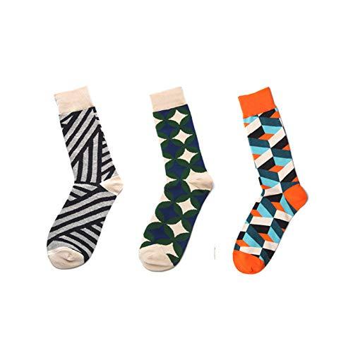 Sokken bont 3 paar lente en zomer zwart-wit sokken mode eenvoudige geometrische patronen katoen ademende comfortabele slang vrouwelijke sokken katoenen sokken gepersonaliseerde kleding Accesso