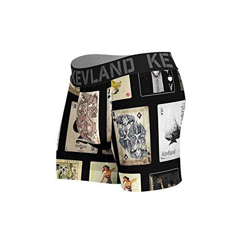 cueca boxer kevland cartas baralho preto (1, GG)